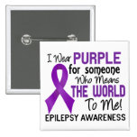 Means The World To Me 2 Epilepsy Pinback Button