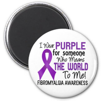 Means The World To Me 2 Fibromyalgia 2 Inch Round Magnet