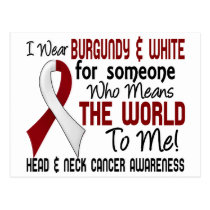 Means The World To Me 2 Head And Neck Cancer Postcard