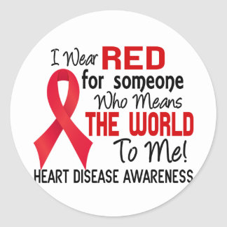 Means The World To Me 2 Heart Disease Classic Round Sticker