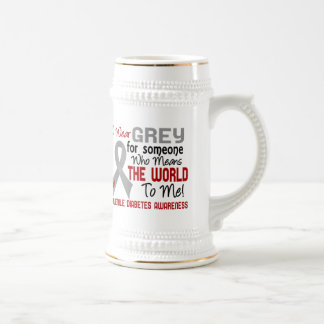 Means The World To Me 2 Juvenile Diabetes 18 Oz Beer Stein