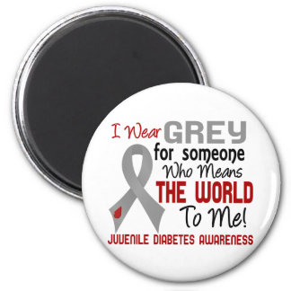 Means The World To Me 2 Juvenile Diabetes 2 Inch Round Magnet