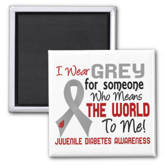 Means The World To Me 2 Juvenile Diabetes 2 Inch Square Magnet