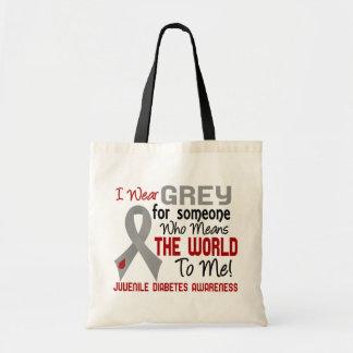 Means The World To Me 2 Juvenile Diabetes Canvas Bag