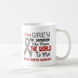 Means The World To Me 2 Juvenile Diabetes Classic White Coffee Mug