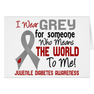 Means The World To Me 2 Juvenile Diabetes Greeting Card