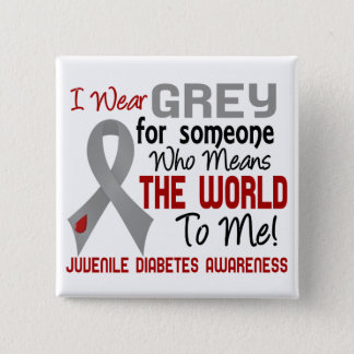 Means The World To Me 2 Juvenile Diabetes Pinback Button