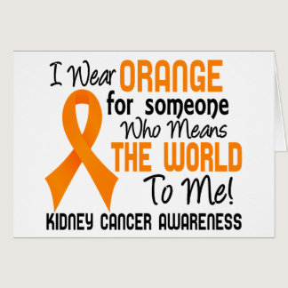 Means The World To Me 2 Kidney Cancer Card