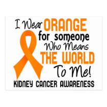 Means The World To Me 2 Kidney Cancer Postcard