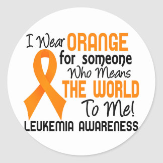 Means The World To Me 2 Leukemia Round Stickers