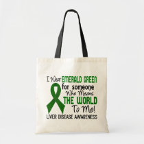 Means The World To Me 2 Liver Disease Tote Bag