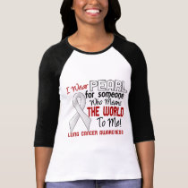 Means The World To Me 2 Lung Cancer T-Shirt