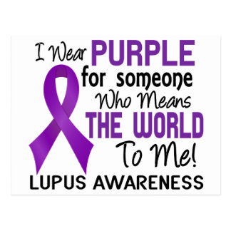 Means The World To Me 2 Lupus Postcard