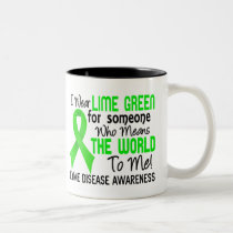 Means The World To Me 2 Lyme Disease Two-Tone Coffee Mug