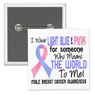 Means The World To Me 2 Male Breast Cancer Pinback Button