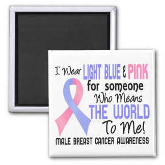 Means The World To Me 2 Male Breast Cancer Magnet