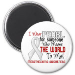 Means The World To Me 2 Mesothelioma 2 Inch Round Magnet