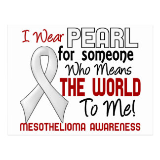 Means The World To Me 2 Mesothelioma Postcard