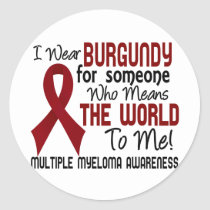 Means The World To Me 2 Multiple Myeloma Classic Round Sticker