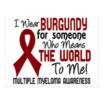 Means The World To Me 2 Multiple Myeloma Postcard