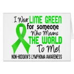 Means The World To Me 2 Non-Hodgkin's Lymphoma Card