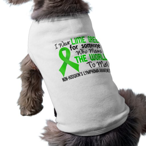 Means The World To Me 2 Non-Hodgkin's Lymphoma Doggie Tee