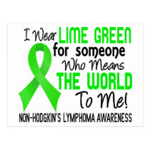 Means The World To Me 2 Non-Hodgkin's Lymphoma Postcard