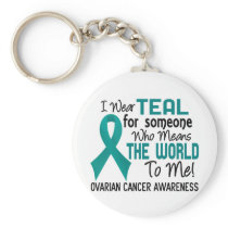 Means The World To Me 2 Ovarian Cancer Keychain