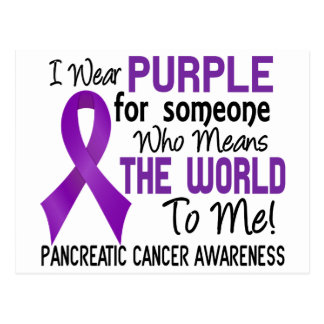 Means The World To Me 2 Pancreatic Cancer Postcard
