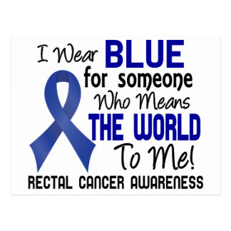 Means The World To Me 2 Rectal Cancer Postcard