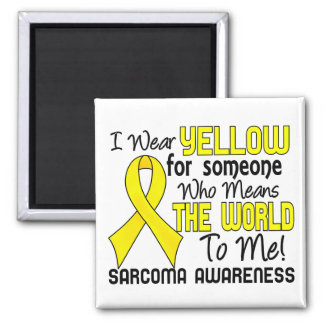 Means The World To Me 2 Sarcoma 2 Inch Square Magnet