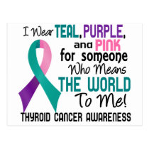 Means The World To Me 2 Thyroid Cancer Postcard