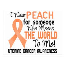 Means The World To Me 2 Uterine Cancer Postcard