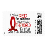 Means The World To Me AIDS Stamp