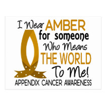Means The World To Me Appendix Cancer Postcard