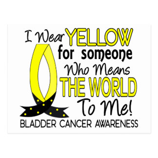 Means The World To Me Bladder Cancer Postcard