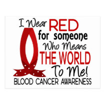 Means The World To Me Blood Cancer Postcard