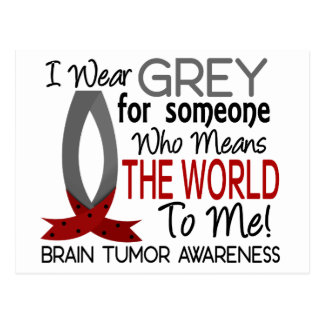 Means The World To Me Brain Tumor Postcard