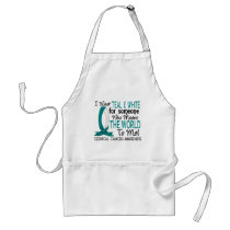 Means The World To Me Cervical Cancer Adult Apron