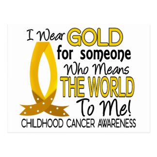 Means The World To Me Childhood Cancer Postcard