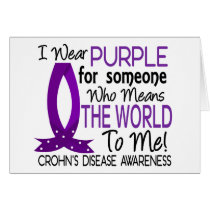 Means The World To Me Crohn's Disease Card