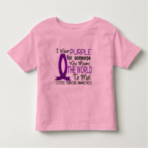 Means The World To Me Cystic Fibrosis Toddler T-shirt