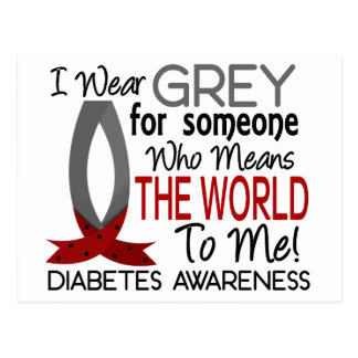 Means The World To Me Diabetes Postcard