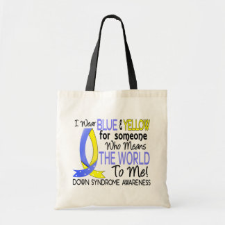 Means The World To Me Down Syndrome Budget Tote Bag