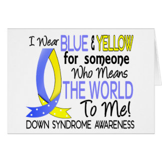 Means The World To Me Down Syndrome Greeting Card