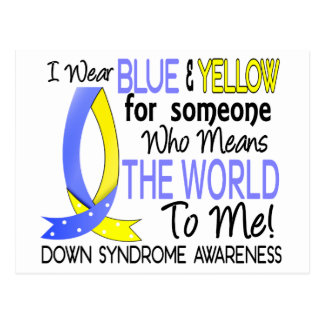 Means The World To Me Down Syndrome Postcard