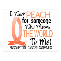 Means The World To Me Endometrial Cancer Postcard