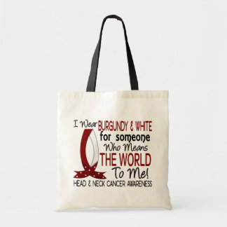 Means The World To Me Head Neck Cancer Tote Bag