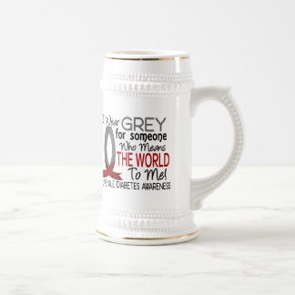 Means The World To Me Juvenile Diabetes 18 Oz Beer Stein