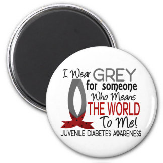 Means The World To Me Juvenile Diabetes 2 Inch Round Magnet